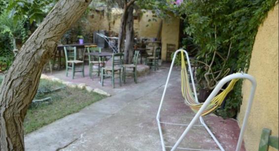 Chania hostel garden
