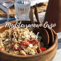 Mediterranean orzo salad square