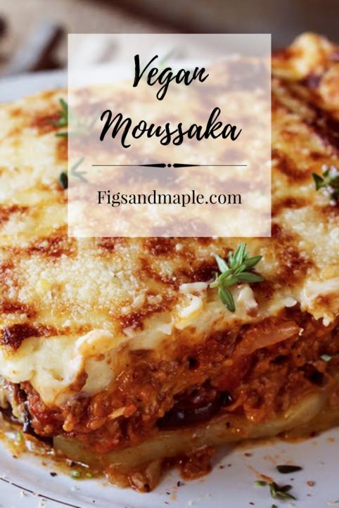 Vegan Moussaka pinterest